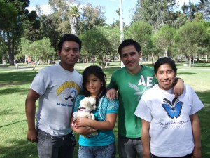 Patricio with Dario, Jenny, and Lorena at our semi-annual picnic